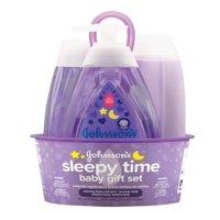 Johnson's Sleepy Time Relaxing Baby Bedtime Gift Set, 4 items