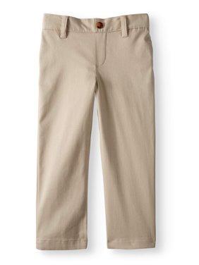 Toddler Boys School Uniform Super Soft Flat Front Pants