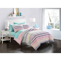 Mainstays Kids Colorful Multi Stripe Bedding Set