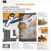 Fiskars Rotary Sewing Quilting Fabric Cutting Set (3-piece) - Rotary Cutter, Cutting Mat, and Acrylic Ruler