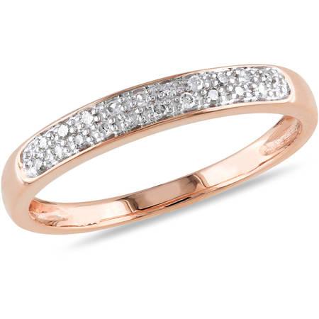 - 1/10 Carat T.W. Diamond 10kt Rose Gold Wedding Band
