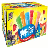 (2 Pack) Pop-Ice Freezer Pops, Tropical Flavors, 1.5 Fl Oz, 80 Ct