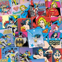 Wonder Woman And Dc Heriones 100% Cotton Fabric For Quilting And Crafting Officially Licensed From Dc Comics