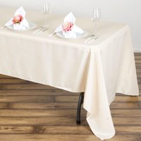 """BalsaCircle 60"""" x 126"""" Rectangular Polyester Tablecloth for Party Wedding Reception Catering Dining Home Table Linens"""