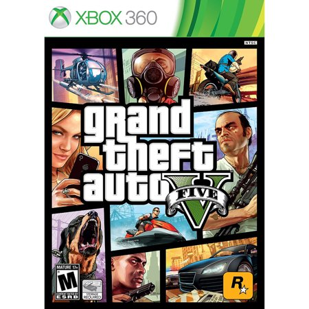 Grand Theft Auto V, Rockstar Games, Xbox 360, (Best Xbox 360 Games)