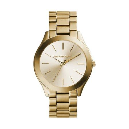 Michael Kors Women's Slim Runway Gold-Tone Watch 42mm