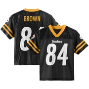 7d5dd4bc0 Youth Antonio Brown Black Pittsburgh Steelers Team Color Jersey