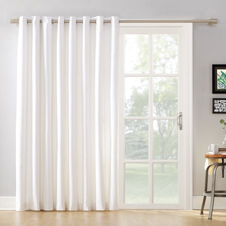 Mainstays Sliding Glass Door Thermal Lined Room Darkening Grommet Curtain Panel - Ribbon Door Curtain