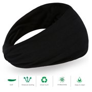 Yosoo 2 PCS Wide Bandana Headband Sweatband Wrap Looking Head Hair Band for  man women Fashion f1d08273226
