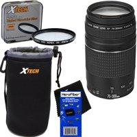 Canon EF 75-300mm f/4-5.6 III Telephoto Zoom Lens for EOS 7D, 60D, 70D, EOS Rebel SL1, T1i, T2i, T3, T3i, T4i, T5, T5i, T6, T6i, T6s, T7i, XS, XSi, XT, & XTi Digital SLR Cameras + 3pc Accessory Kit