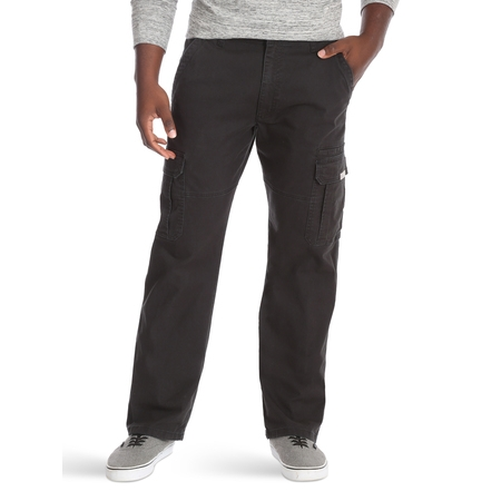 Modern Fit Poly Pant (Wrangler Men's Relaxed Fit Cargo Pant with)