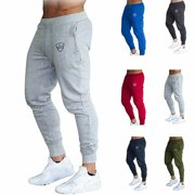b0c01438b766f Mens Slim Fit Tracksuit Sport Gym Skinny Jogging Joggers Sweat Pants  Trousers