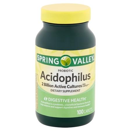 Spring Valley Probiotic Acidophilus Caplets, 100 count ()
