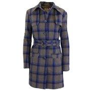 9c7e9706c780 Women's Wool Plaid Trench Coat Jacket With Belt - SLIM-FIT DESIGN