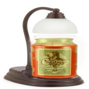 Aurora Bronze Candle Warmer Gift Set - Warmer and Courtneys 26 oz Jar Candle - POMEGRANATE