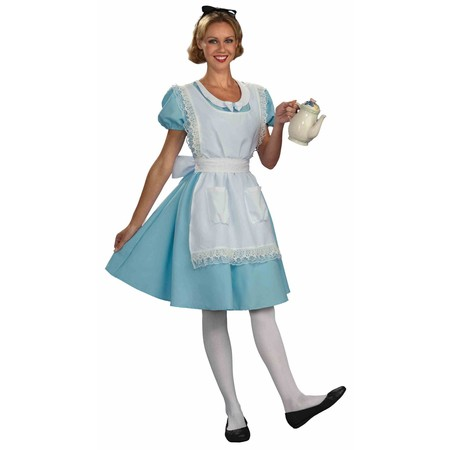 Womens Alice Halloween Costume - White Queen Alice In Wonderland Costume