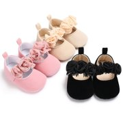 Baby Newborn Toddler Girl Crib Shoes Pram Soft Sole Prewalker Anti-slip  Sneakers b47a0febc05d