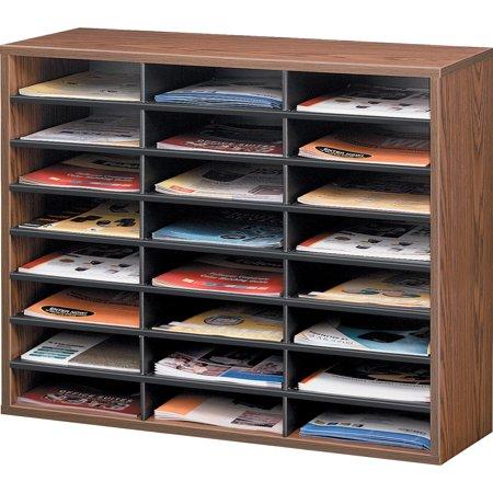 Fellowes, FEL25043, Literature Organizer - 24 Compartment Sorter, Medium Oak, 1 Each, Medium Oak