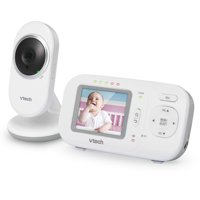 "VTech VM320 2.4"" Digital Video Baby Monitor with Full-Color and Automatic Night Vision, White"