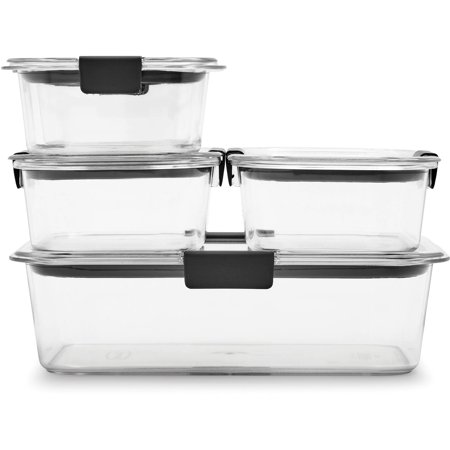 Store Food Storage - Rubbermaid Brilliance Food Storage Containers, Clear, 10-Piece Set