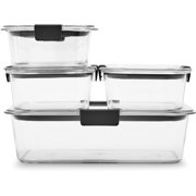 Rubbermaid Brilliance Food Storage Containers, Clear, 10-Piece Set