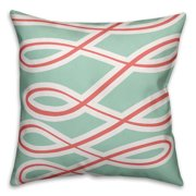 Fight Breast Cancer Pink Ribbons 18x18 Spun Poly Pillow