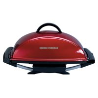 George Foreman 12-Serving Indoor/Outdoor Rectangular Electric Grill, Red, GFO201R-1