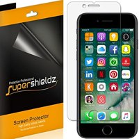 [6-Pack] Supershieldz Apple iPhone 8 Plus / iPhone 7 Plus Screen Protector, Anti-Bubble High Definition (HD) Clear Shield