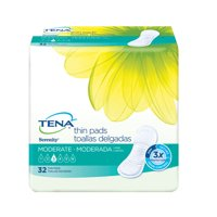 Tena Incontinence Pads, Moderate Thin, Long, 32 Ct