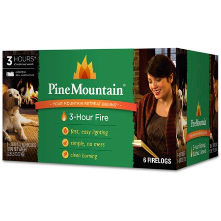 - Pine Mountain 6-Pack, 3-Hour Firelogs, Easy Lighting