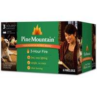 Pine Mountain 6-Pack, 3-Hour Firelogs, Easy Lighting