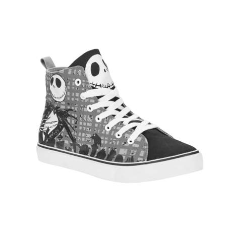 Nightmare Before Christmas Men's Jack High Top Sneaker - High Top Sparkle Sneakers