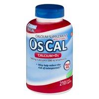 OsCal Calcium + Vitamin D3 Caplets, 500mg, 210 ct
