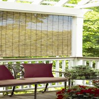 Radiance Cord Free P/P Reed Roll-Up Outdoor Sun Shade, Multiple Sizes and Colors