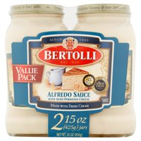 (2 Pack) Bertolli Alfredo with Aged Parmesan Cheese Pasta Sauce 15 oz. (Pack of 2)