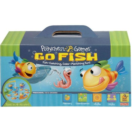 Playchest Games Go Fish Color Matching Memory Fun for 2-4 (Fun Fish)