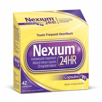 Nexium 24HR (20mg, 42 Ct) Delayed Release Heartburn Relief Capsules, Esomeprazole Magnesium Acid Reducer