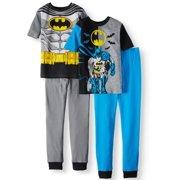 Boys  Batman 4 Piece Pajama Sleep Set (Little Boy ... 7a6f1bd45