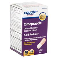 Equate Omeprazole Capsules, Acid Reducer, 20mg, 14 Ct