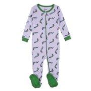 fb527ce38c Leveret Kids Pajamas Baby Boys Girls Footed Pajamas Sleeper 100% Cotton  (Peacock