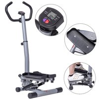 Costway Twister Stepper with Handle Bar Step Machine Fitness Exercise Workout Trainer