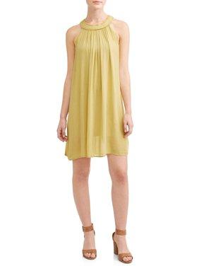 Women's Easy Round Neck Sleeveless Dress