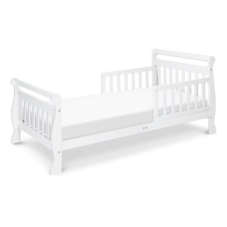 DaVinci Sleigh Toddler Bed, Multiple Finishes, With Bed Rails