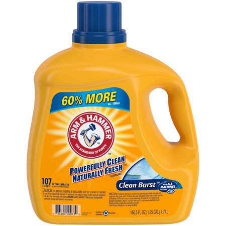 Arm & Hammer Clean Burst Liquid Laundry Detergent, 160.5 fl