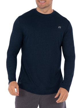 Russell Big Men's Active Performance Crew Neck Long Sleeve Shirt