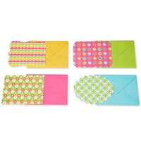 American Greetings Patterned Blank Note Cards and Envelopes Stationery Pack, 40ct