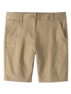 Girls School Uniform Stretch Twill Bermuda Shorts