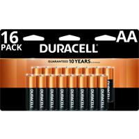 Duracell 1.5V Coppertop Alkaline AA Batteries 16 Pack<!---Energizer>