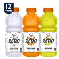 Gatorade Zero Sugar Thirst Quencher, 3 Flavor Variety Pack, 20 oz Bottles, 12 Count