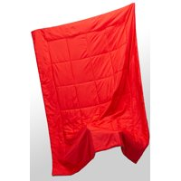 Ozark Trail Puffy Quilted Outdoor Camping Blanket, Red